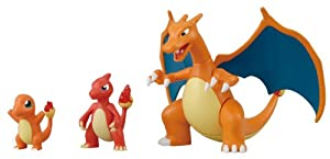 Pokemon Evolution Plastic Model Kit Charmander Charmeleon Charizard Plamo Figure Toy Lizardon Bandai