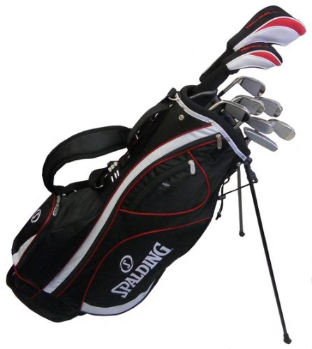 Spalding AF14 Mens Golf Club Set with Black Stand Bag (Right Hand-Steel)