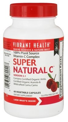 Vibrant Health - Super Natural C Version 3.1 - 60 Vegetarian Capsules Clearance Priced