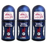 Nivea For Men Dry Impact Deodorant Roll-On Travel Size 25Ml (Pack Of 3)