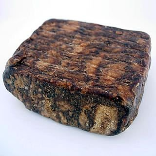 Raw African Shea Butter Black Soap from Ghana - 1 Lb by HalalEveryday
