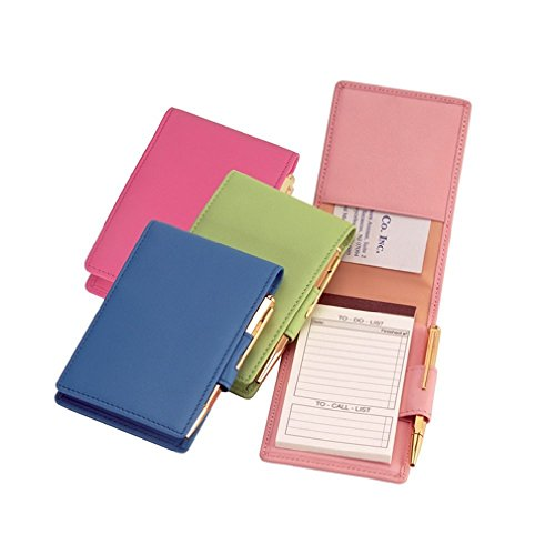 royce-leather-deluxe-flip-style-note-jotter-carnation-pink