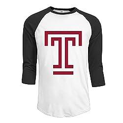 Men Temple University 3/4 SleeveT-shirt Tees