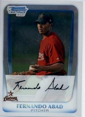 2011 Bowman Chrome Prospects Baseball Card #BCP219 Fernando Abad - Houston Astros (RC - Rookie Card / Prospect XRC) MLB Trading Card