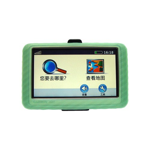 Gizmo Dorks Special! Garmin GPS Silicone Skin Case Green, for Use with 4.3 Inch Screens: Garmin 200w 250w 255W 260W 265WT (Does Not Include Garmin GPS!)