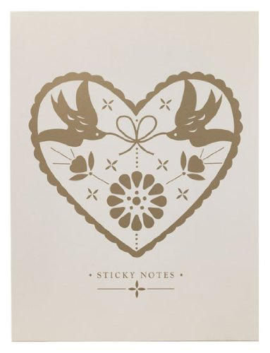 Golden Heart Wedding Sticky Notes