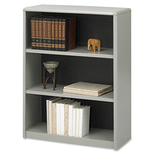 Value Mate Steel Bookcase w 3 Shelves in Gray Safco 3 Shelf Bookcase
