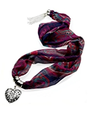 M&S Collection Paisley Print Scarf Necklace