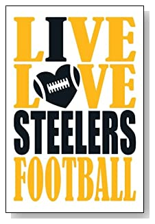 Live Love I Heart Steelers Football lined journal - any occasion gift idea for Pittsburgh Steelers fans from WriteDrawDesign.com