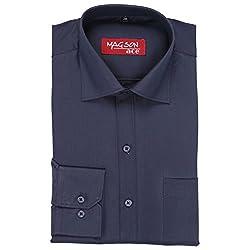 Magson Ace Men's Formal Shirt 1968096031_Blue_40