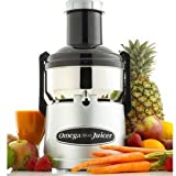 Omega BMJ330 Commercial 350-Watt Stainless-Steel Pulp-Ejection Juicer, Garden, Lawn, Maintenance