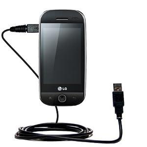 Un câble USB lisse, classique pour le LG GW620 avec fonctions charge et HotSync