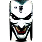 For Samsung Galaxy S3 Mini I8190 :: Samsung I8190 Galaxy S III Mini :: Samsung I8190N Galaxy S III Mini Dangerous Man ( Dangerous Man, Laughing Man, Black Background ) Printed Designer Back Case Cover By FashionCops