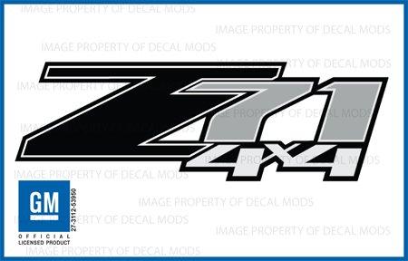 GMC Sierra Z71 4×4 BLACK decals stickers – FB (2007-2013) bed side 1500 2500 HD (set of 2)