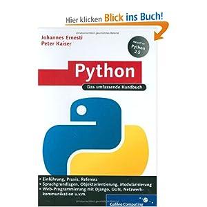 eBook Cover für  Python Das umfassende Handbuch Galileo Computing