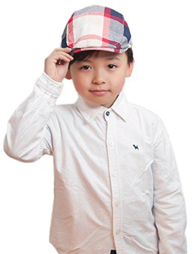 Smile-YKK-Chapeau-de-Baseball-Enfant-Bb-Bret-Coton-Casquette-Visire-Plate-Motif-Carreaux