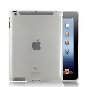 NEU! KOLAY® iPad 3 Hülle - TPU Silikon Hülle Case Schutzhülle in Transparent + Displayschutzfolie mit Anleitung für Das Neue Apple iPad 3.Generation 2012