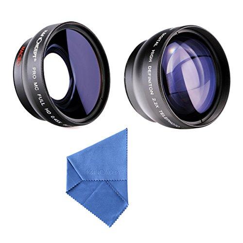 K&F Concept® 52mm Super Weitwinkelkonverter 0.45x Professionell HD Weitwinkel Objektiv Vorsatz mit Makrolinse 2.2X Telephoto Lens Teleobjektiv mit Reinigungstuch Reinigungspinsel für Canon Rebel T5i T3i XTi XS T4i T2i XT SL1 T3 T1i XSi EOS 1000D 600D 450D 100D 650D 700D 550D 400D 500D 300D 1100D and Nikon D7100 D5100 D3100 D300 D90 D70s D40x D3X D7000 D5000 D3000 D300S D80 D60 D3 D5200 D3200 D700 D200 D70 D40 D3S