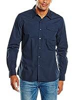 PAUL STRAGAS Camisa Hombre Long Sleeve (Azul Marino)