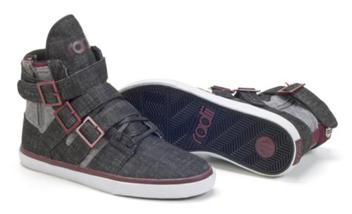 Radii Men's Straight Jacket Vlc High Top Shoes 2013 (9.5, Black Denim/Brown)