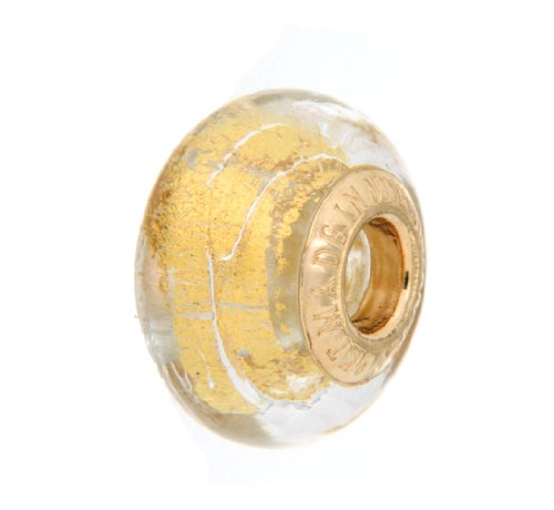 9ct Yellow Gold Murano Bead