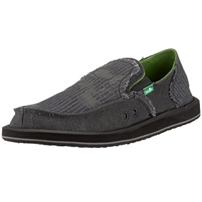 f34e5cec850f3 Sanuk Men's Grifter Sidewalk Surfer Slip-On,Black,12 M