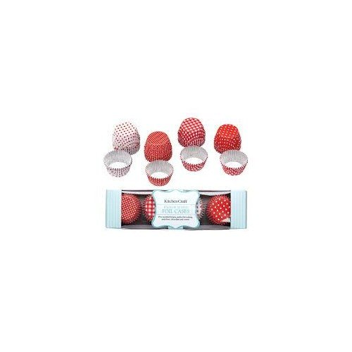 Kitchen Craft - Capsulas Aluminio Bombones, Color Rojo, 40 Unids