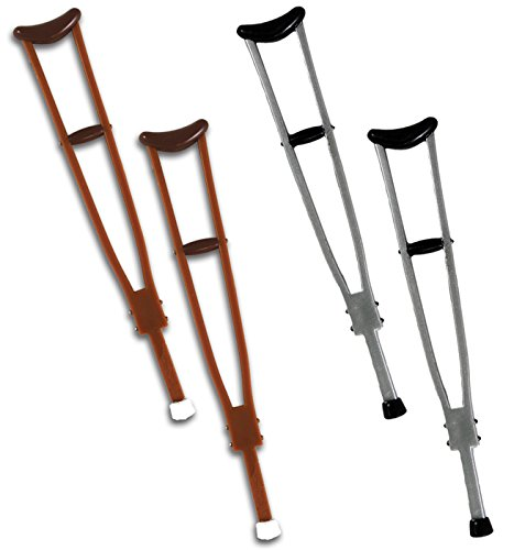 PACKAGE-DEAL-2-SETS-OF-CRUTCHES-SILVER-WOODEN-RINGSIDE-COLLECTIBLES-EXCLUSIVE-WWE-TOY-WRESTLING-ACTION-FIGURE-ACCESSORIES
