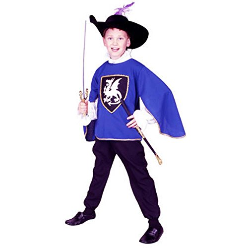 RG Costumes 90077-BL-L Musketeer Blue Costume - Size Child-Large