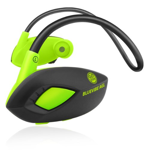 GOgroove BlueVIBE AGL Athletic Bluetooth Sports Headset with Wireless Playback Controls, Onboard Mic, and Flexible Neckband - Works with Samsung Galaxy S5 Prime , Samsung Note 3 , HTC One M8 and More!