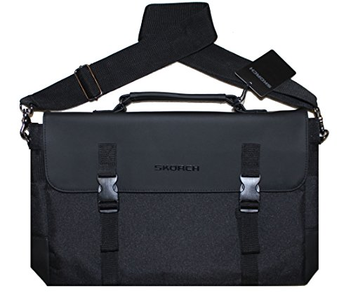 SKORCH Luxury Messenger Bag, Laptop Bag for Men and Women. Ideal for Work, School, Travel. Internal and External Pockets and Thick Shoulder Strap for Added Comfort and Security. (Thule Macbook Hard Case compare prices)