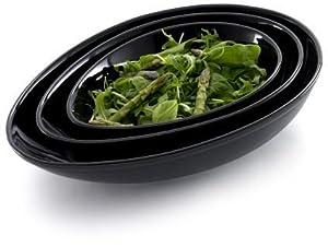 Nigella Lawson Living Kitchen, Salad and Vegetable Dish, Set of 3, Black