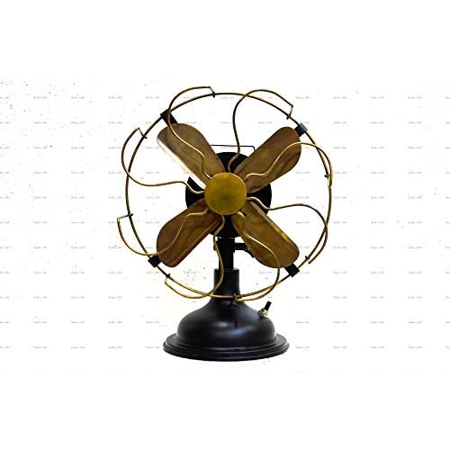 Sailor's Art Antique Brass Vintage Table Fan 13""