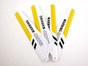 New Syma S107 Metal Frame 3 Channel Infrared Radio Remote Control Helicopter Main Blades Set--yellow Color