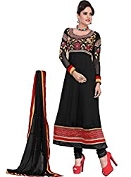 Sajda Glamour Black color Anarkali Suit