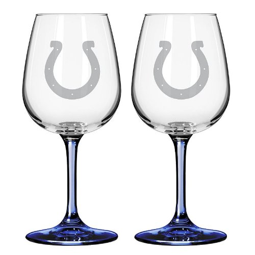 NFL Indianapolis Colts Wine Glass, 12-ounce, 2-Pack