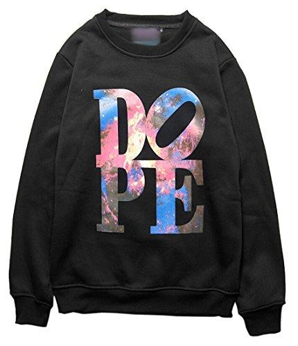 Easy Men Quality Stylish Printing Hip Hop Cotton Sweatshirts M Black