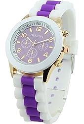 Domire Women's Geneva Silicone Band Jelly Gel Quartz Wrist Watch
