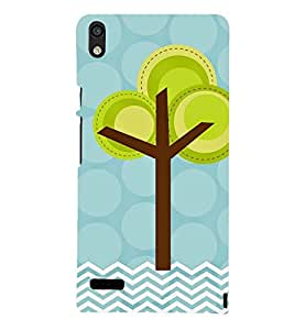 animated tree in polka dot and stripes pattern 3D Hard Polycarbonate Designer Back Case Cover for Huawei Ascend P6 :: Huawei P6 :: Huawei Ascend P6 Dual