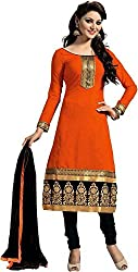 SHOP INTEGRITY EXOTIC ORANGE COTTON DRESS MATERIAL