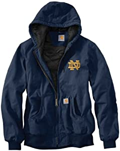 NCAA Notre Dame Fighting Irish Mens Ripstop Active Jacket by Carhartt