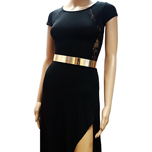 Slickblue (TM) Fashion Wide Metallic Gold Obi-Belt for Sexy Womens ju ju be сумка универсальная ju ju be be prepared