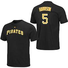 Josh Harrison Pittsburgh Pirates Black Player T-Shirt by Majestic by Majestic