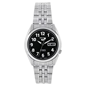 Seiko Men's SNK381K Stainless Steel Analog with Black Dial Watch