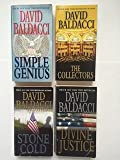 img - for David Baldacci (Set of 4) Simple Genius; The Collectors; Stone Cold; Divine Justice book / textbook / text book