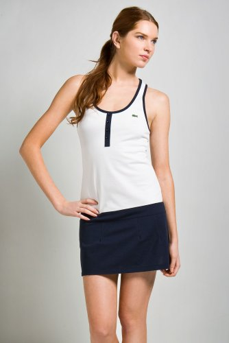 Sleeveless Racerback Stretch Pique Tennis Dress