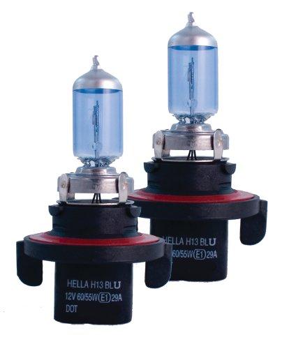 Hella H83135362 H13 9008 12V 60/55W High Performance Xenon Blue Halogen Bulb Set