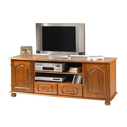 meubles tv beaux meubles pas chers meuble tv banc ch ne 2 portes 2 tiroirs. Black Bedroom Furniture Sets. Home Design Ideas