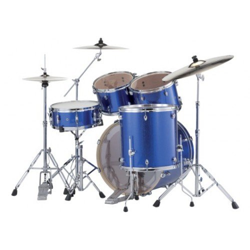 PEARL-EXPORT-STANDARD-BATTERY-22-Electric-Blue-Sparkle-with-Cymbals