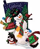 Dimensions Snowman Fun Stocking Felt Applique Kit